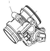 Дроссельная заслонка в сборе D46-6 Stels ATV 500H EFI (инжектор)