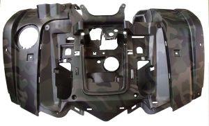 Пластик передний облицовочный, крылья (защитный зеленый) Stels 700H/500H (EFI)