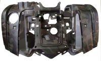 Пластик передний облицовочный, крылья (темно-зеленый), Stels 700H/500H (EFI)