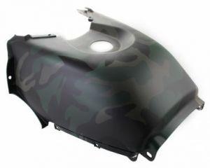 Щиток облицовочный топливного бака (защитный зеленый) Stels ATV 500/700HSun